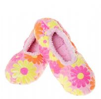 Pink Daisy Soft Bling Snoozies- MEDIUM 5-6 ONLY LEFT